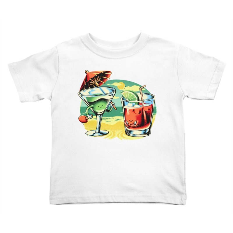 A Day at the Beach Kids Toddler T-Shirt by Santiago Sarquis's Artist Shop