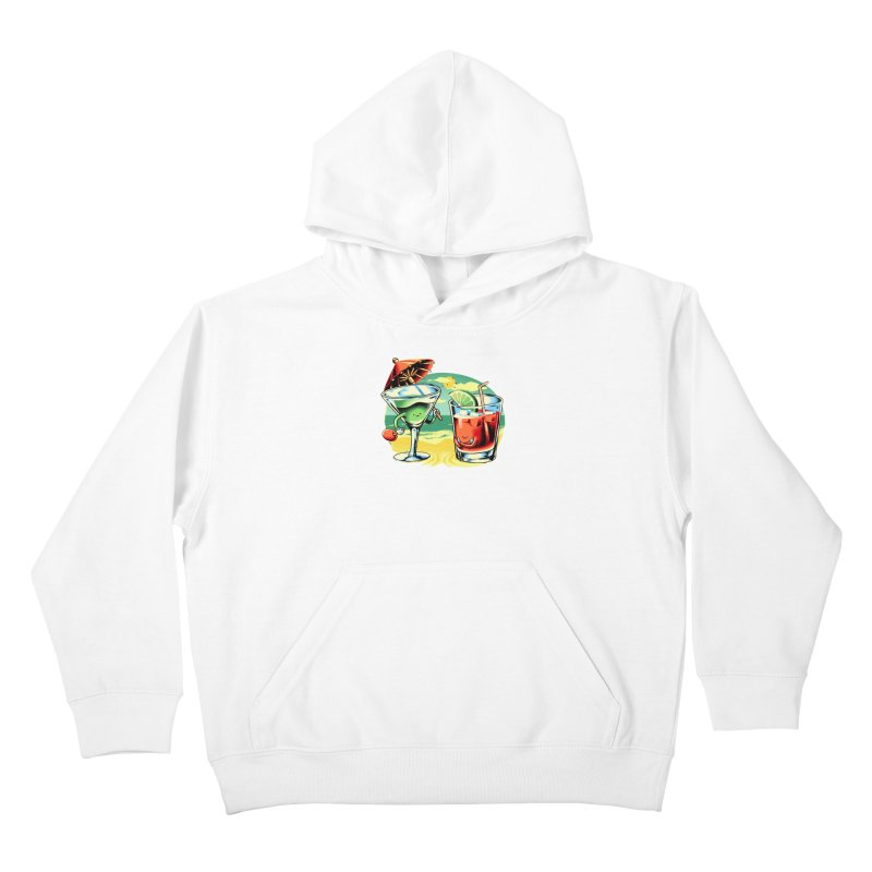 A Day at the Beach Kids Pullover Hoody by Santiago Sarquis's Artist Shop