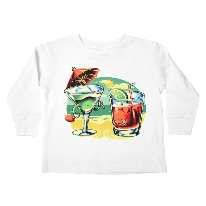 A Day at the Beach Kids Toddler Longsleeve T-Shirt by Santiago Sarquis's Artist Shop