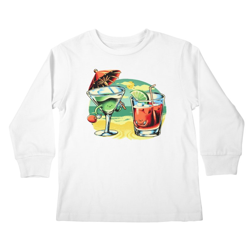 A Day at the Beach Kids Longsleeve T-Shirt by Santiago Sarquis's Artist Shop