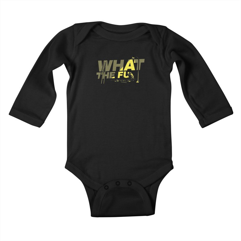 What the Fu Kids Baby Longsleeve Bodysuit by Santiago Sarquis's Artist Shop