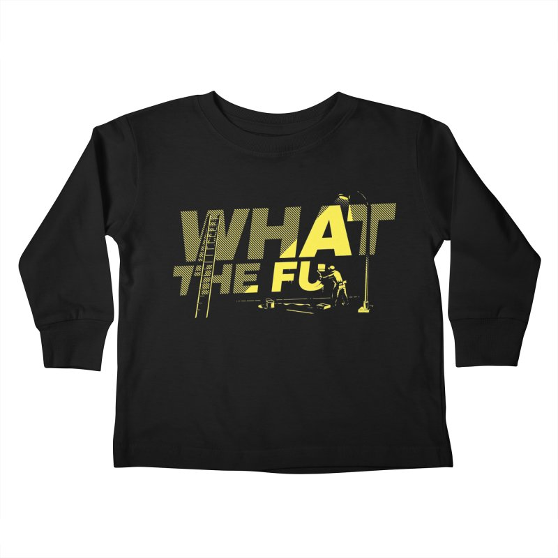 What the Fu Kids Toddler Longsleeve T-Shirt by Santiago Sarquis's Artist Shop
