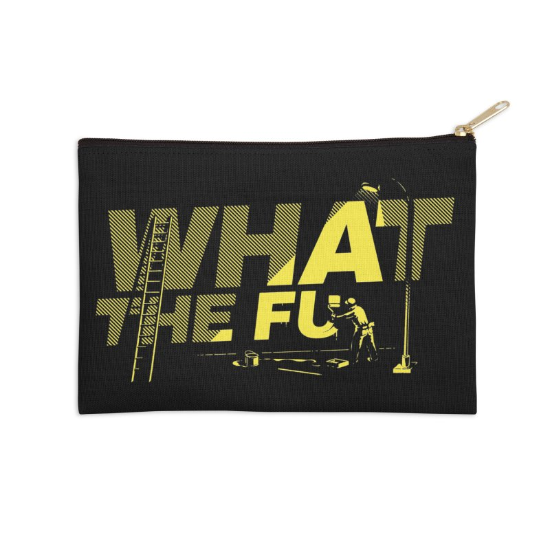 What the Fu Accessories Zip Pouch by Santiago Sarquis's Artist Shop