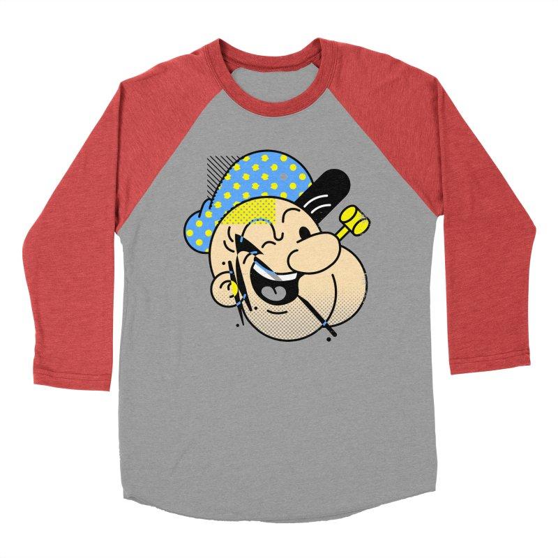 Pop-Eye Women's Baseball Triblend Longsleeve T-Shirt by Santiago Sarquis's Artist Shop