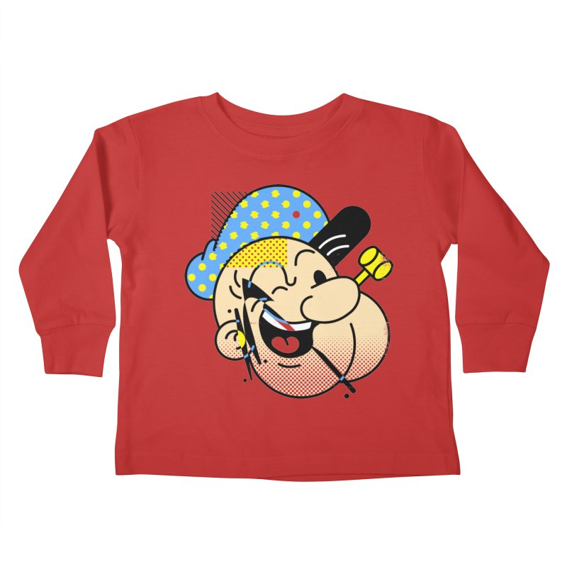 Pop-Eye Kids Toddler Longsleeve T-Shirt by Santiago Sarquis's Artist Shop