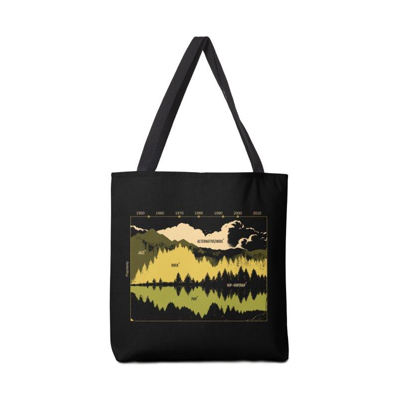 Music Timeline Accessories Tote Bag Bag by Santiago Sarquis's Artist Shop