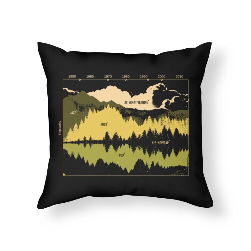 Music Timeline Home Throw Pillow by Santiago Sarquis's Artist Shop
