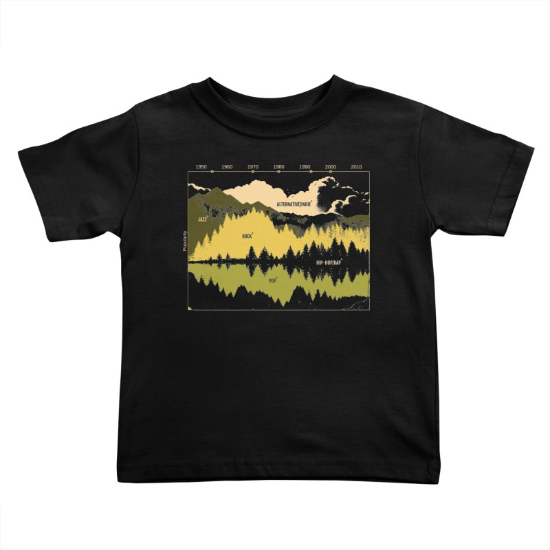 Music Timeline Kids Toddler T-Shirt by Santiago Sarquis's Artist Shop