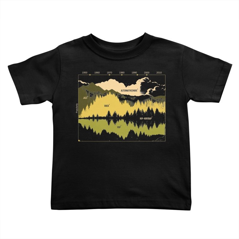 Music Timeline Kids Toddler T-Shirt by metalsan's Artist Shop