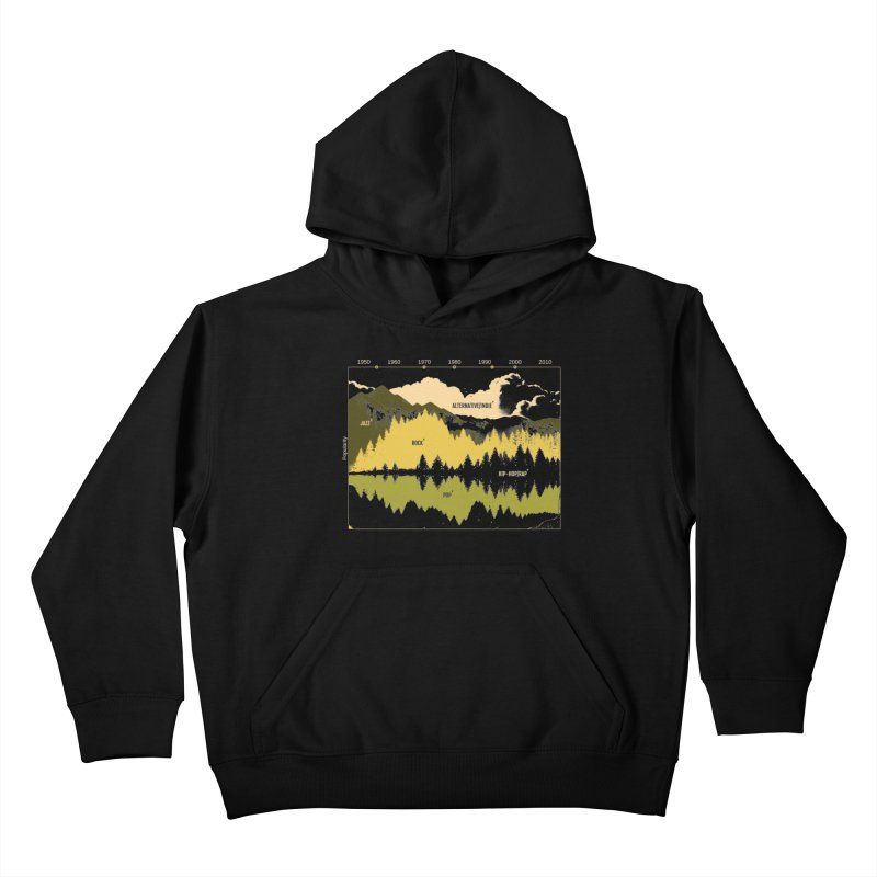 Music Timeline Kids Pullover Hoody by Santiago Sarquis's Artist Shop