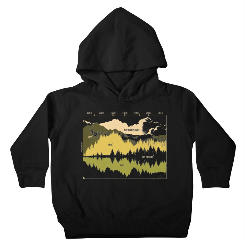 Music Timeline Kids Toddler Pullover Hoody by Santiago Sarquis's Artist Shop