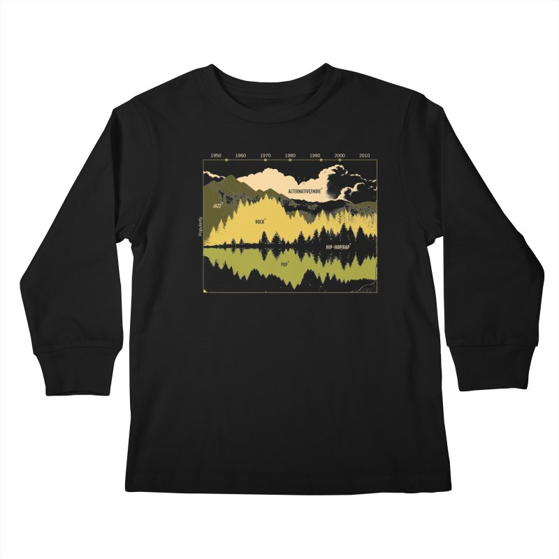 Music Timeline Kids Longsleeve T-Shirt by metalsan's Artist Shop