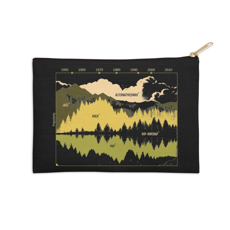 Music Timeline Accessories Zip Pouch by metalsan's Artist Shop