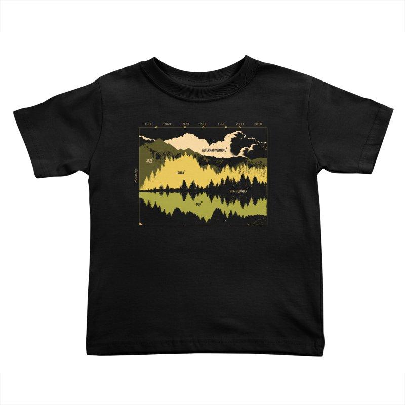 Music Timeline Kids Toddler T-Shirt by Santiago Sarquis's Artist Shop