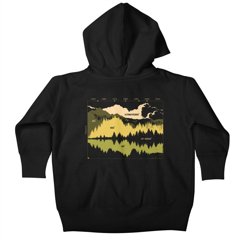 Music Timeline Kids Baby Zip-Up Hoody by Santiago Sarquis's Artist Shop
