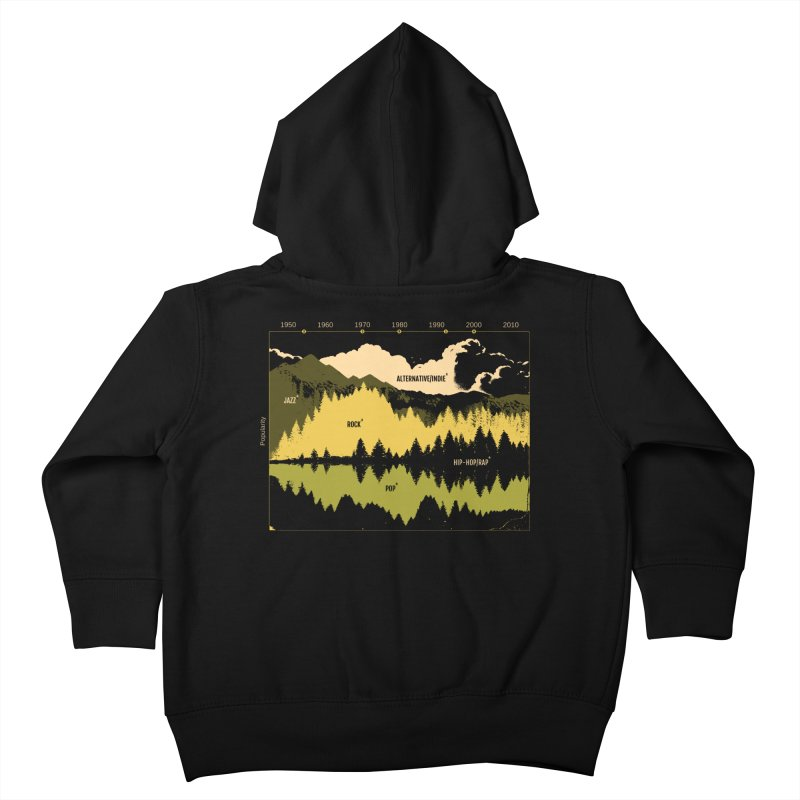 Music Timeline Kids Toddler Zip-Up Hoody by Santiago Sarquis's Artist Shop