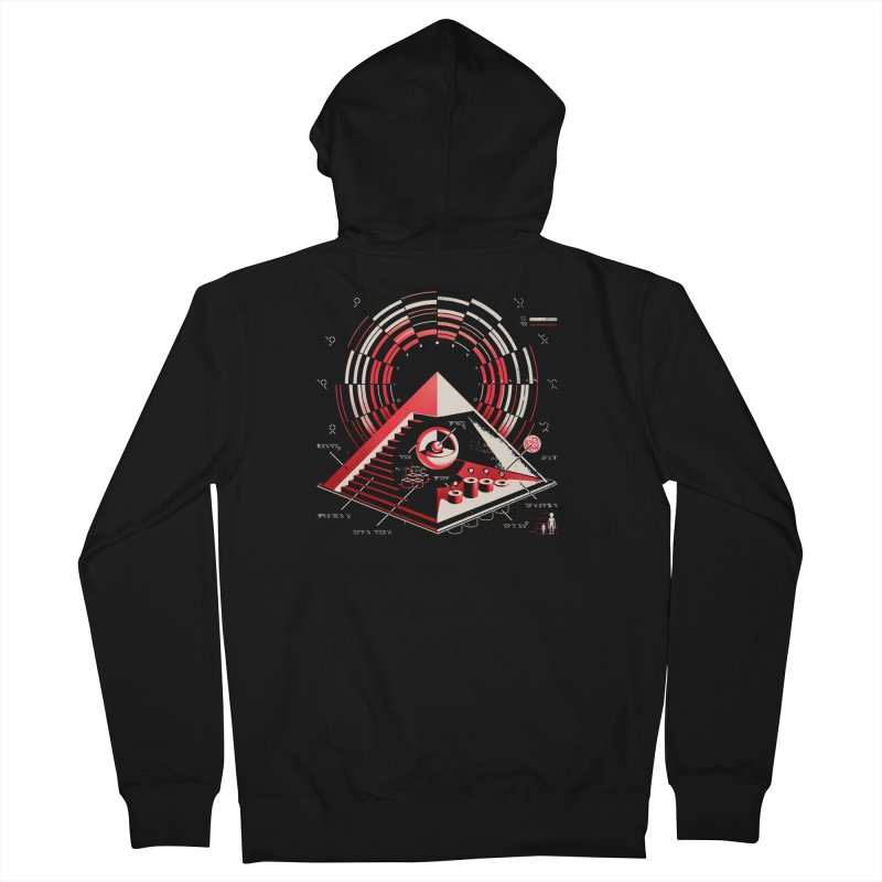 Top Secret Men's Zip-Up Hoody by Santiago Sarquis's Artist Shop