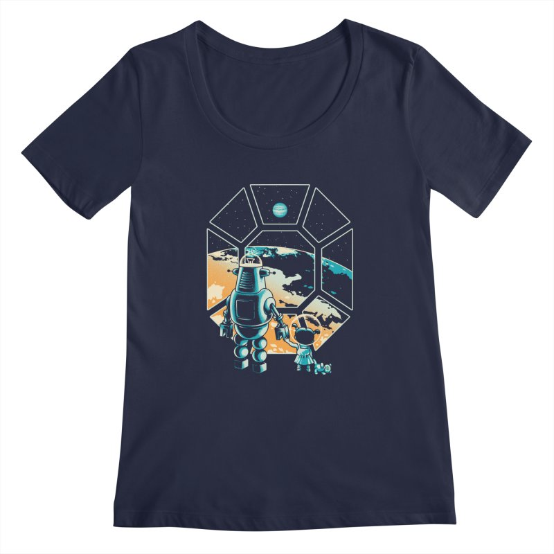 A New Hope Women's Scoopneck by Santiago Sarquis's Artist Shop