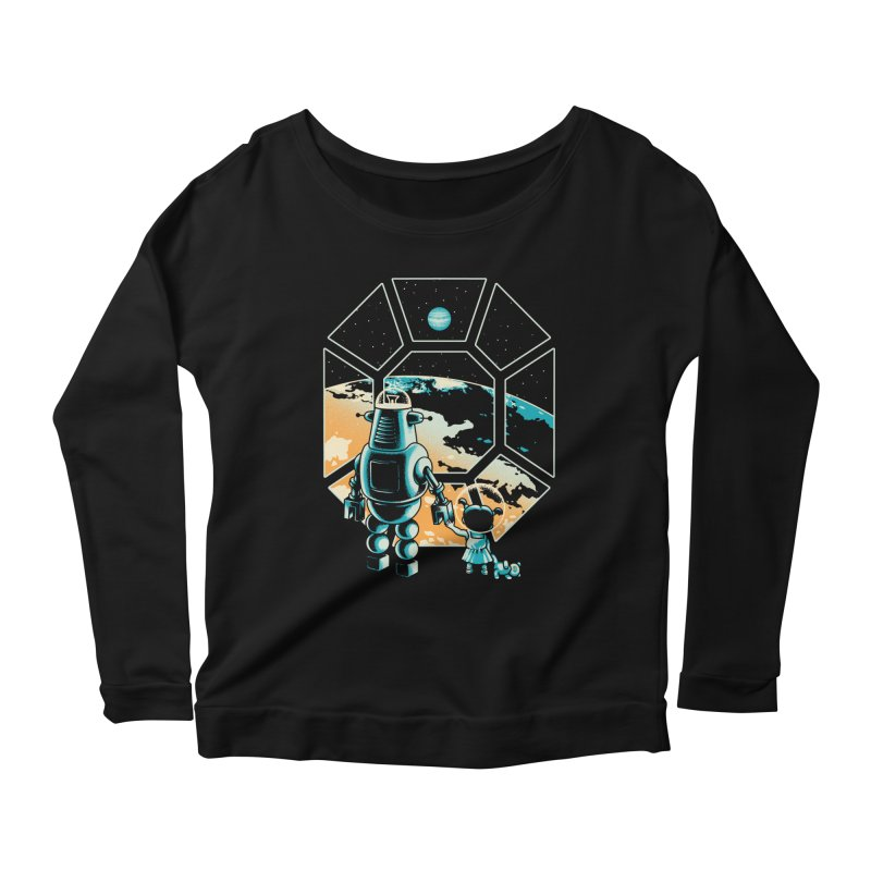 A New Hope Women's Longsleeve Scoopneck  by Santiago Sarquis's Artist Shop