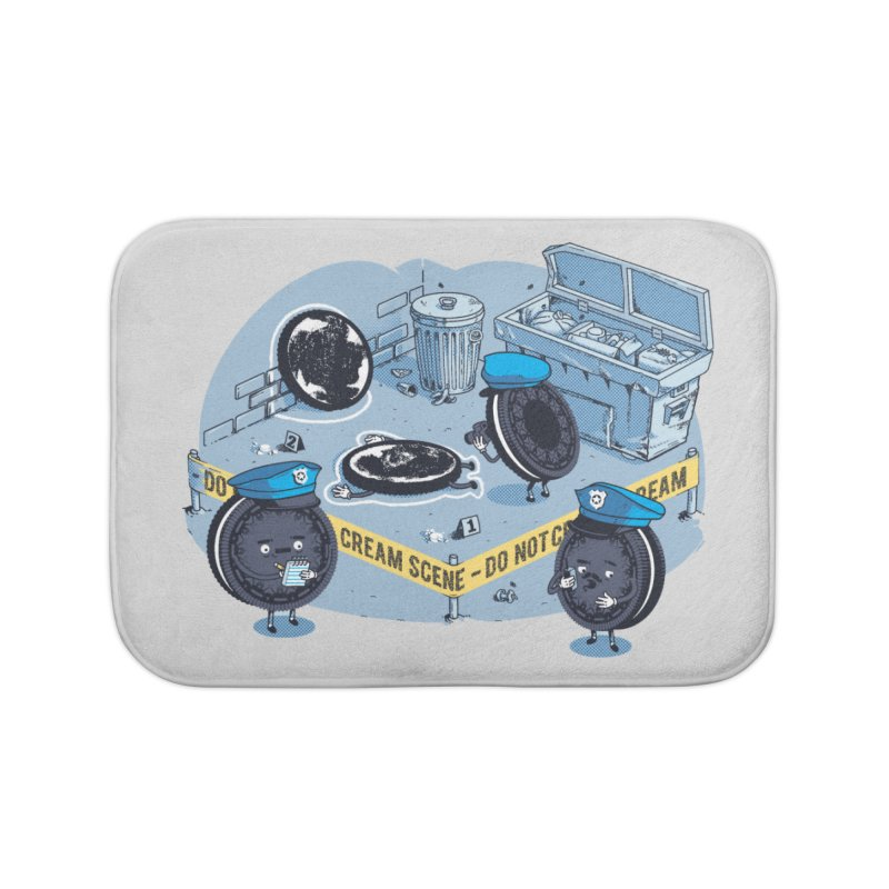 Cream Scene Home Bath Mat by metalsan's Artist Shop