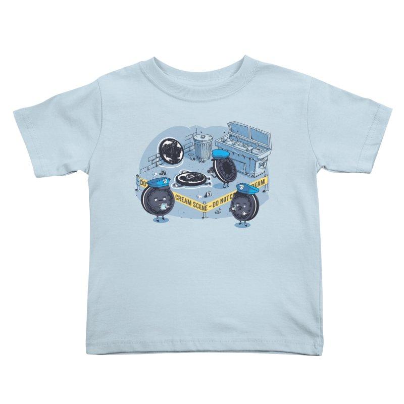 Cream Scene Kids Toddler T-Shirt by Santiago Sarquis's Artist Shop