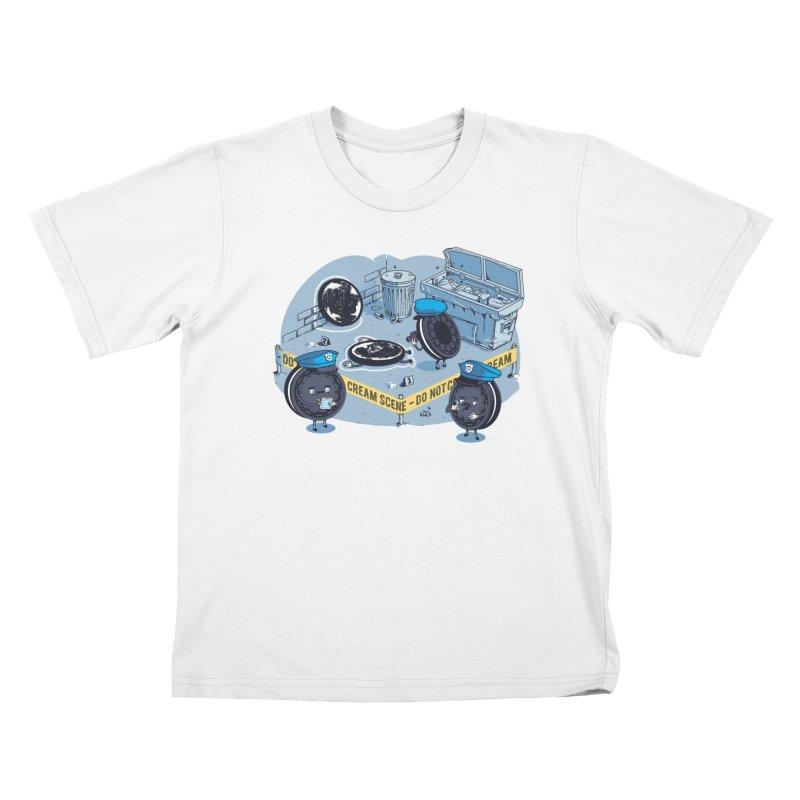Cream Scene Kids T-Shirt by Santiago Sarquis's Artist Shop