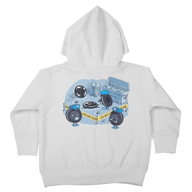 Cream Scene Kids Toddler Zip-Up Hoody by Santiago Sarquis's Artist Shop