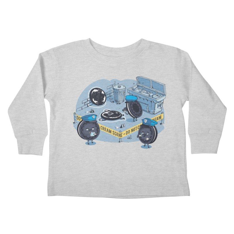 Cream Scene Kids Toddler Longsleeve T-Shirt by Santiago Sarquis's Artist Shop