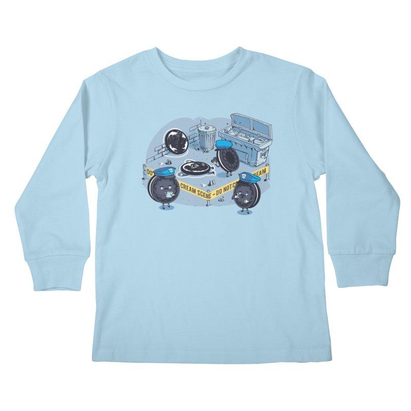 Cream Scene Kids Longsleeve T-Shirt by Santiago Sarquis's Artist Shop