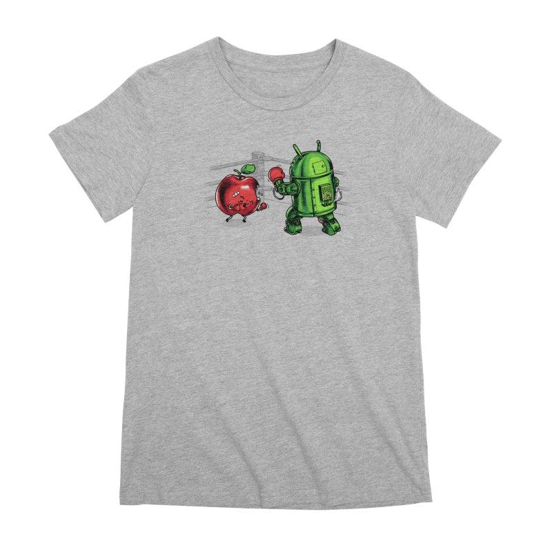 Fruits Vs. Robots Women's Premium T-Shirt by Santiago Sarquis's Artist Shop