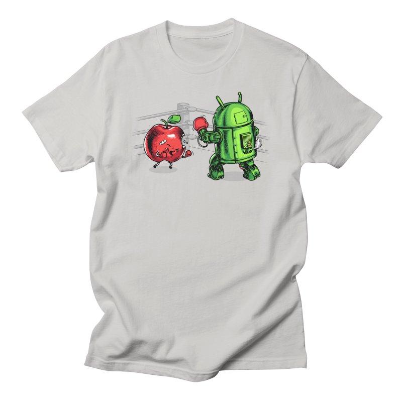 Fruits Vs. Robots Men's T-Shirt by Santiago Sarquis's Artist Shop