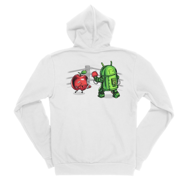Fruits Vs. Robots Women's Zip-Up Hoody by Santiago Sarquis's Artist Shop
