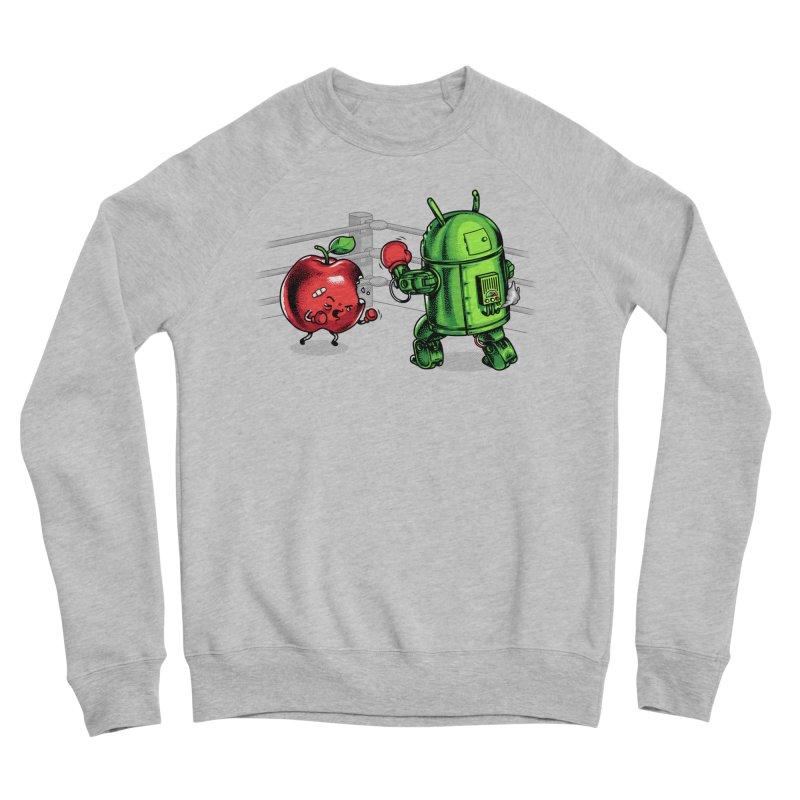 Fruits Vs. Robots Women's Sponge Fleece Sweatshirt by Santiago Sarquis's Artist Shop