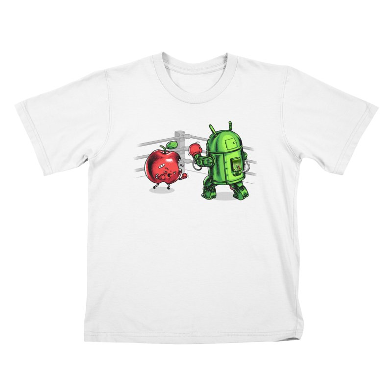 Fruits Vs. Robots Kids T-Shirt by Santiago Sarquis's Artist Shop