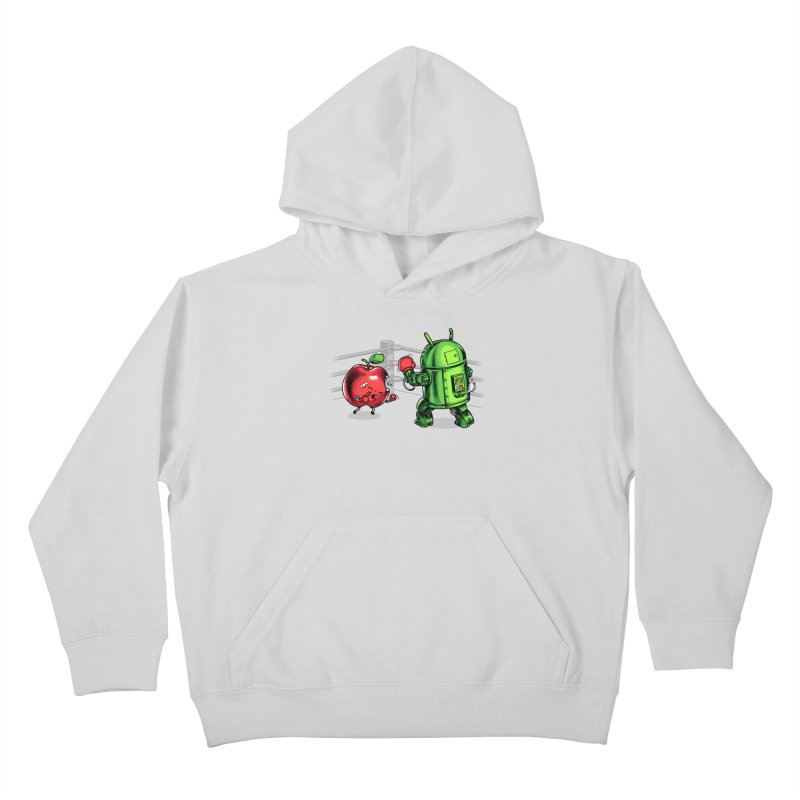 Fruits Vs. Robots Kids Pullover Hoody by Santiago Sarquis's Artist Shop