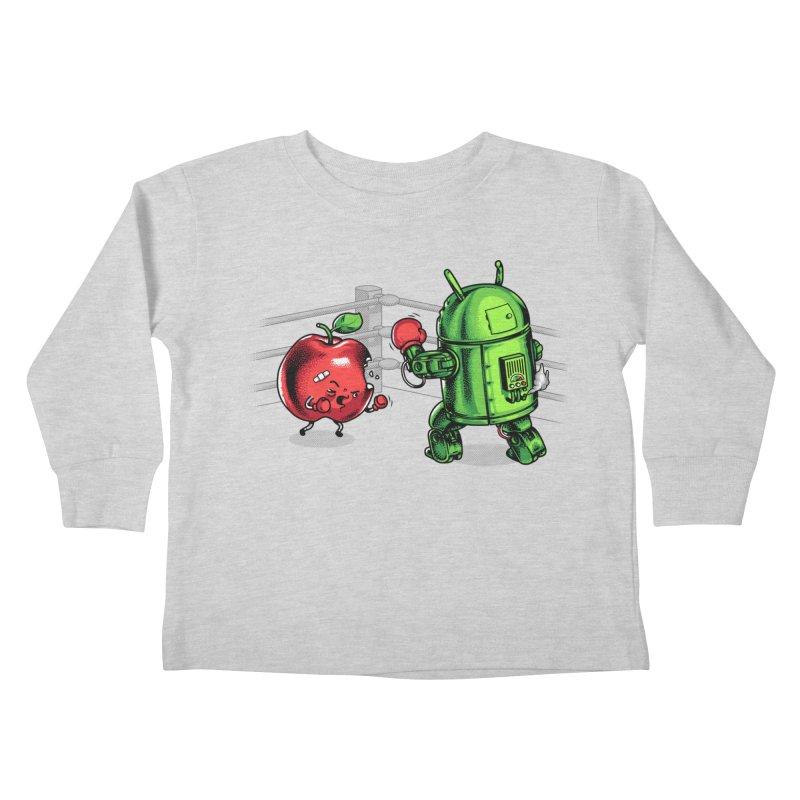 Fruits Vs. Robots Kids Toddler Longsleeve T-Shirt by Santiago Sarquis's Artist Shop