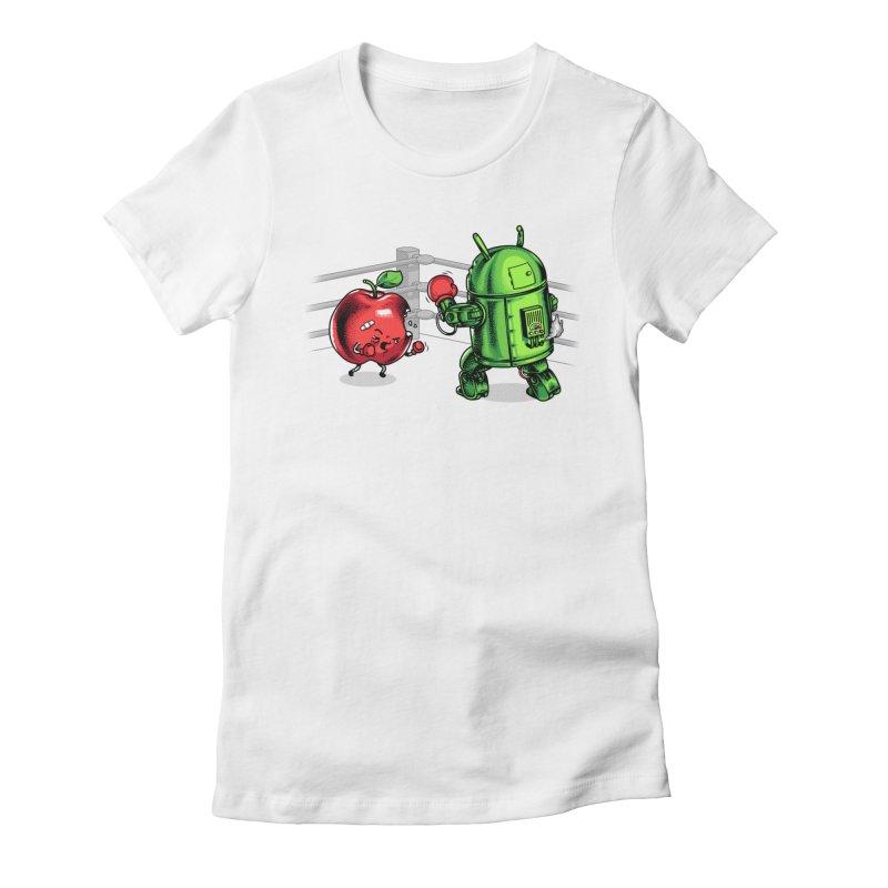 Fruits Vs. Robots Women's T-Shirt by Santiago Sarquis's Artist Shop