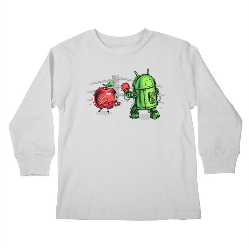 Fruits Vs. Robots Kids Longsleeve T-Shirt by Santiago Sarquis's Artist Shop