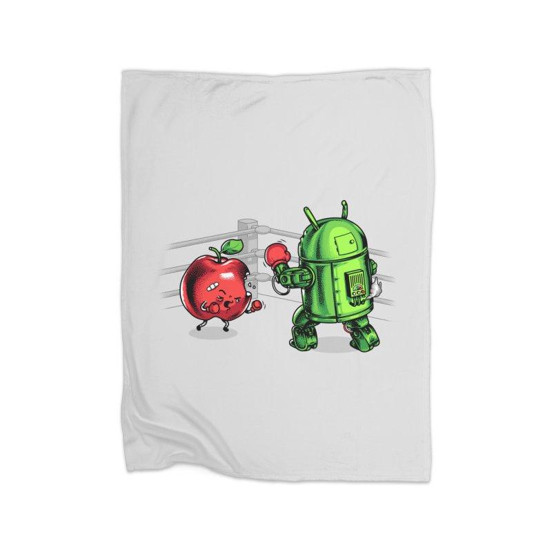 Fruits Vs. Robots Home Blanket by Santiago Sarquis's Artist Shop