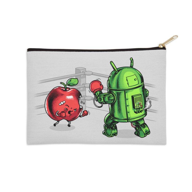 Fruits Vs. Robots Accessories Zip Pouch by Santiago Sarquis's Artist Shop