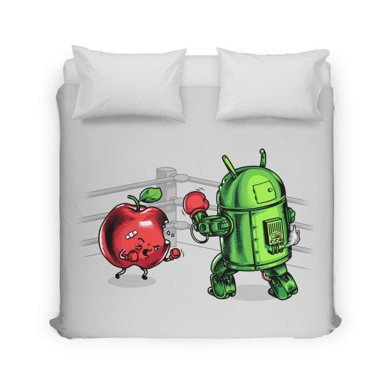 Fruits Vs. Robots Home Duvet by Santiago Sarquis's Artist Shop