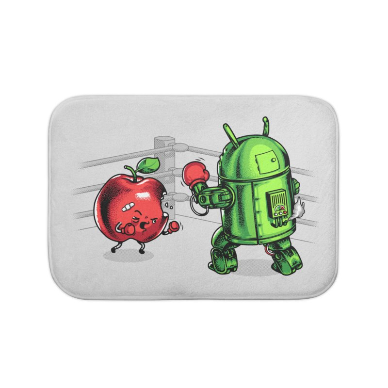 Fruits Vs. Robots Home Bath Mat by Santiago Sarquis's Artist Shop