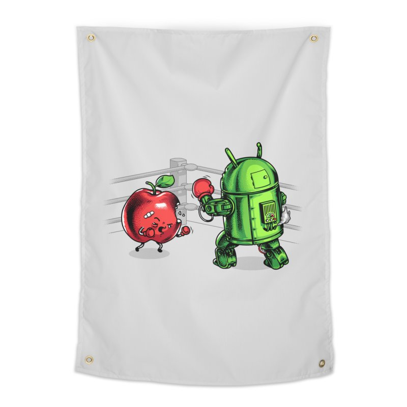 Fruits Vs. Robots Home Tapestry by Santiago Sarquis's Artist Shop