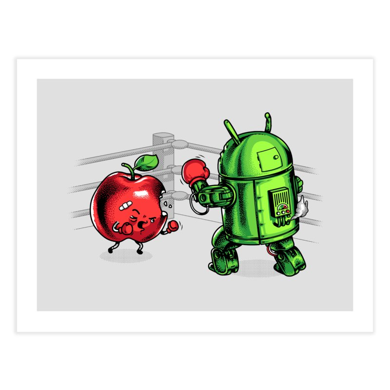 Fruits Vs. Robots Home Fine Art Print by Santiago Sarquis's Artist Shop