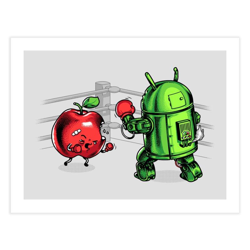 Fruits Vs. Robots Home Fine Art Print by Santiago Sarquis's Artist Shop