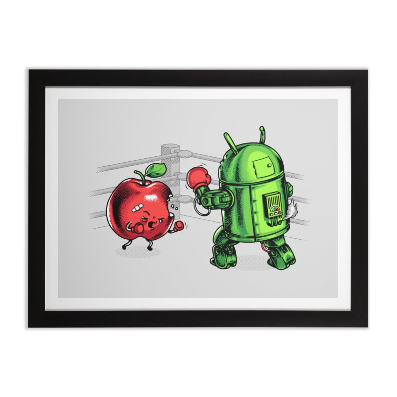 Fruits Vs. Robots Home Framed Fine Art Print by Santiago Sarquis's Artist Shop