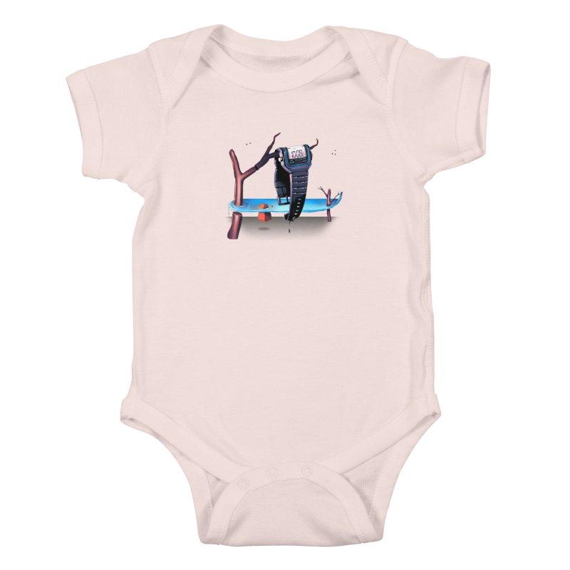 La Persistencia de la Memoria Kids Baby Bodysuit by metalsan's Artist Shop
