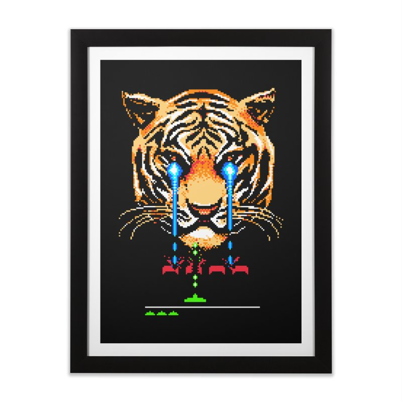 The Invaders Must Die Home Framed Fine Art Print by Santiago Sarquis's Artist Shop