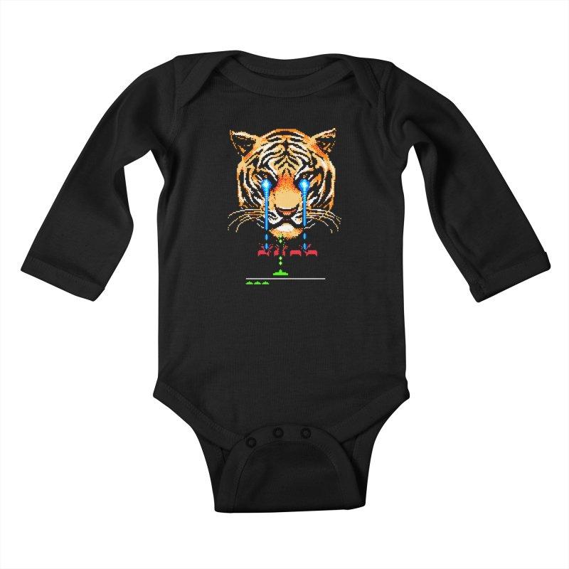 The Invaders Must Die Kids Baby Longsleeve Bodysuit by Santiago Sarquis's Artist Shop