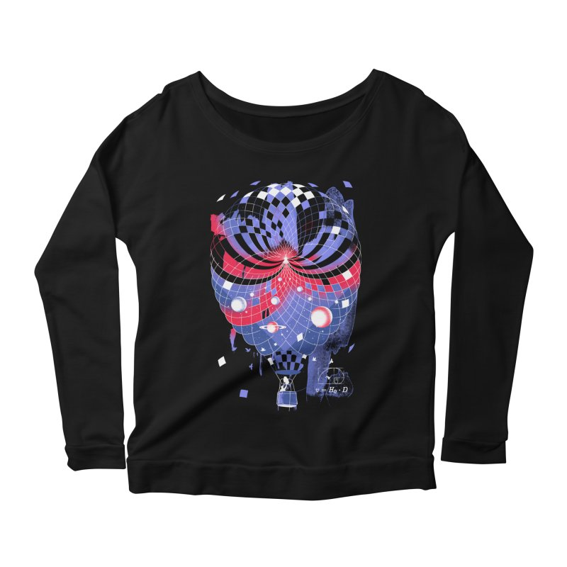 The Big Bang Women's Longsleeve Scoopneck  by metalsan's Artist Shop